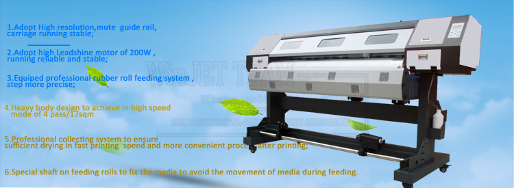 supplier trusted Multicolor 1.8m big size eco solvent printer dx5 printhead canvas printing machine for sale