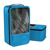 blue mesh shoe bag convenient packing system for your shoes when traveling