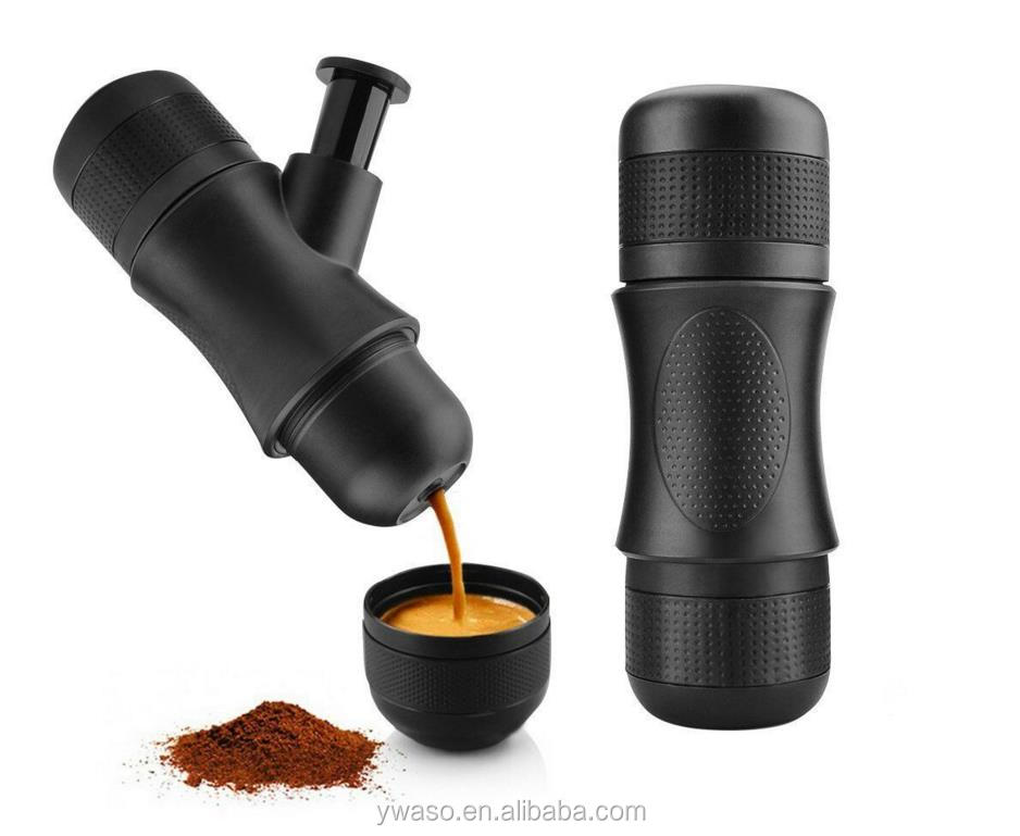Mini Portable Espresso Coffee Maker Hand Pressure Trip Outdoor Coffee Maker