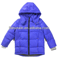 Removable sleeves cute warmth blue children winter coats