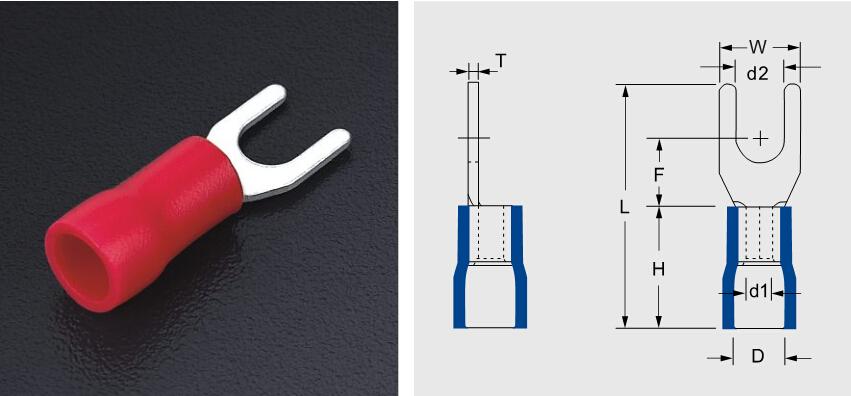 Sv5.5-5 5mm U Type Of Wire Terminals Stud U Type Of Wiie Terminal ...