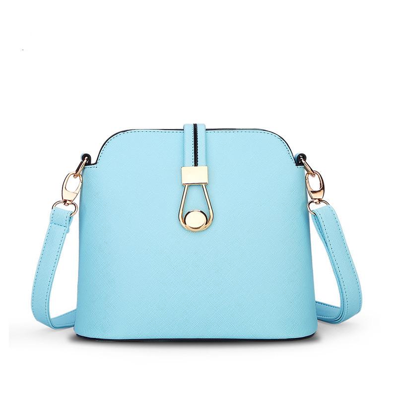 Spring  Summer New Candy Color Fresh Small Women Shoulder Bag Fashion Shell Women Messenger Bag Sky Blue Beige Colors Q5