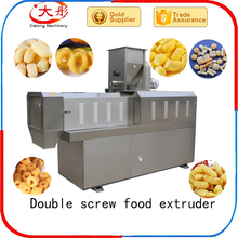 Chocolate filled core filling puffed corn snack food corn chips machine