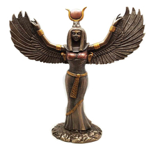 Ebros Egyptian Theme Isis With Open Wings Goddess of Magic and Nature Bronzed Statue Sculpture