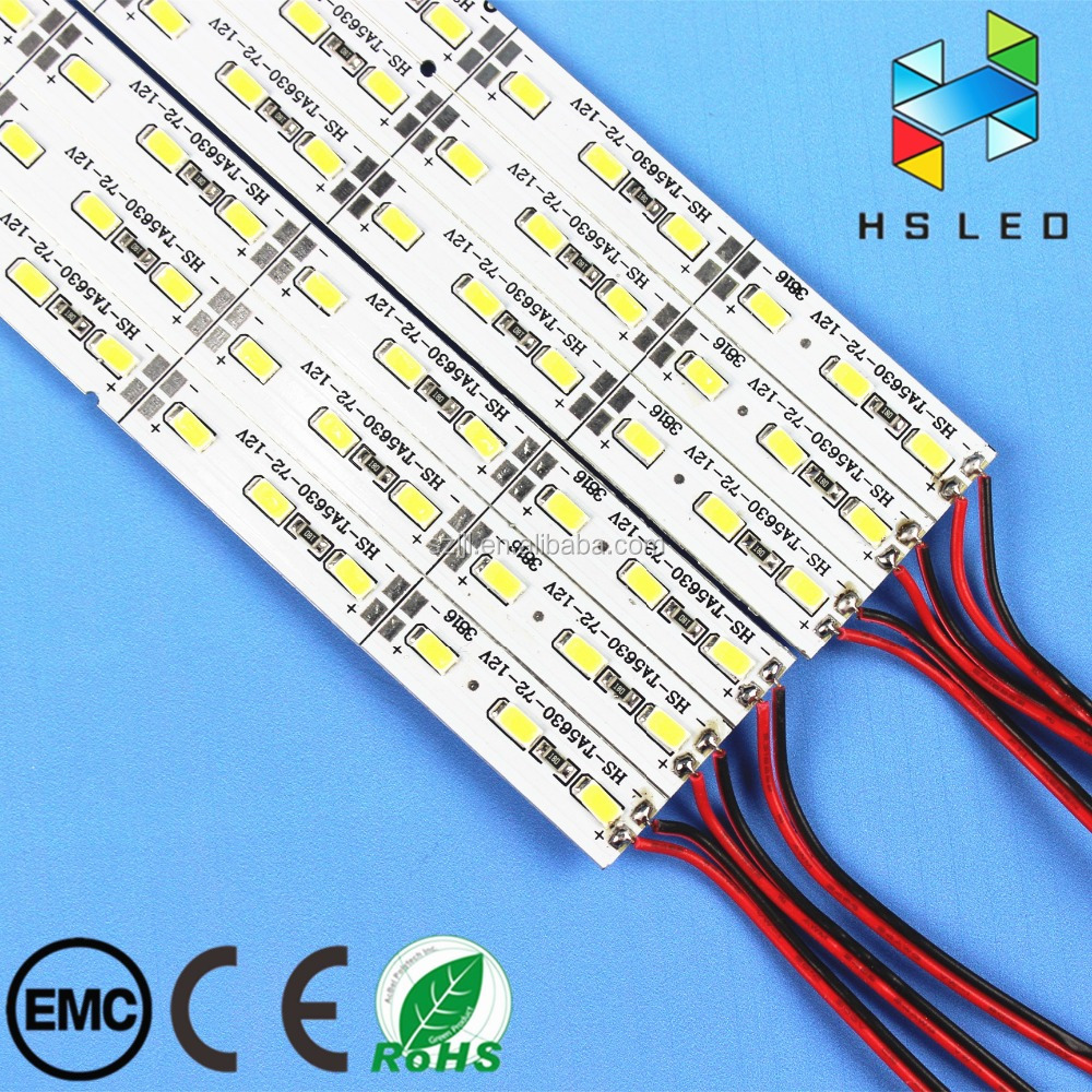 Hot sale 72leds/m 18W/M DC12V SMD5630 WW/PW/CW led rigid bar strip light with best price