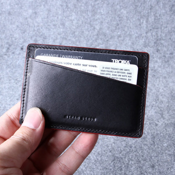 Custom leather credit card holderpersonalized dark brown leather custom leather credit card holderpersonalized dark brown leather atm card walletluxury business colourmoves