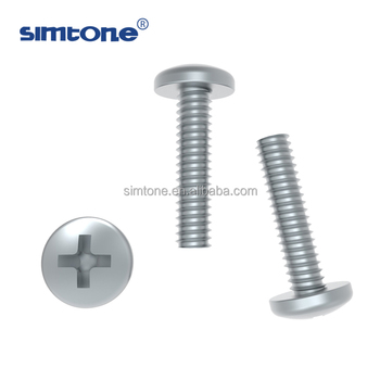 Stainless Steel Fasteners Phillips Recess Pan Head Machine Screw Size M2 To  M10 - Buy Pan Head Machine Screw,M2 Machine Screw,M10 Machine Screw