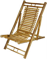 BF-13009 - Outdoor bamboo furniture - Bamboo rustic folding chair recliner
