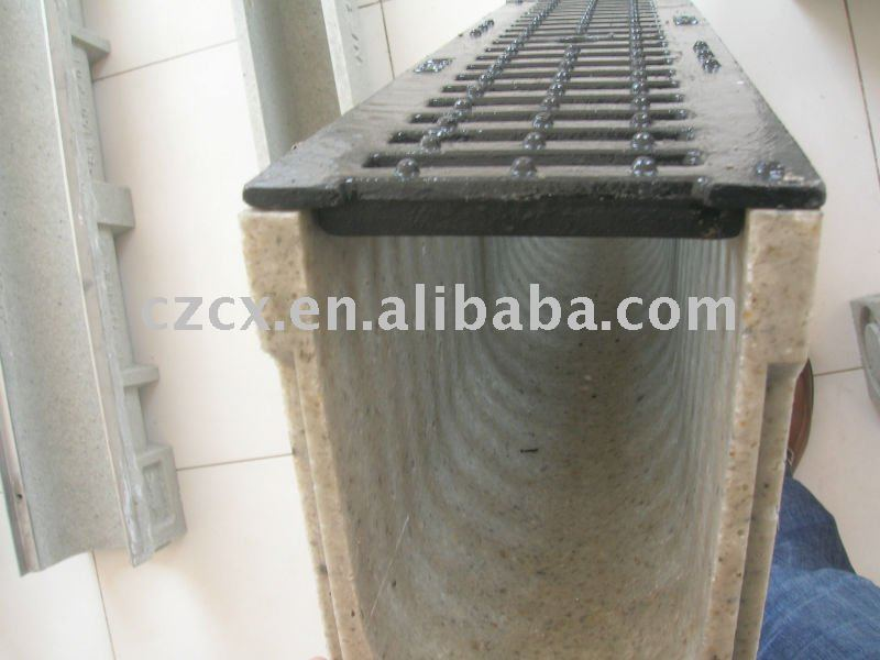 surface drainage trench polymer concrete drain trench