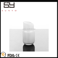 chinese Modern handblown slant mouth white ceramic porcelain candle holder for center pieces