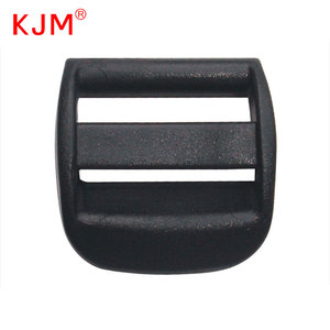 KJM factory price black adjusted buckle plastic 3 bar slides buckles for webbing
