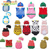 Baby Boys Girls Cartoon Watermelon Baby Fruit Animal Romper Costumes Bodysuit with Hats Outfits