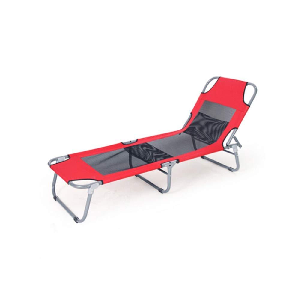 Lounge Sun Outdoor Fishing Armrest Rest Beach Camping Reclining Tanned Folding Chair Folding Sun Chair Collapsible Reclining Reclining Garden Chair Leg Backrest (Color : Blue)