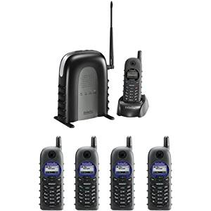 ENGENIUS DURAFON1XPIDW 900 MHz Long-Range Cordless Phone System with Base Handset and Four 2-way Radio Handsets-by-ENGENIUS