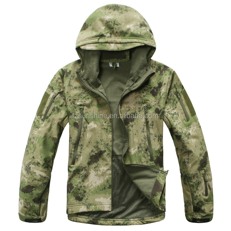 10000mm Waterproof Digital Camo Softshell Jacket