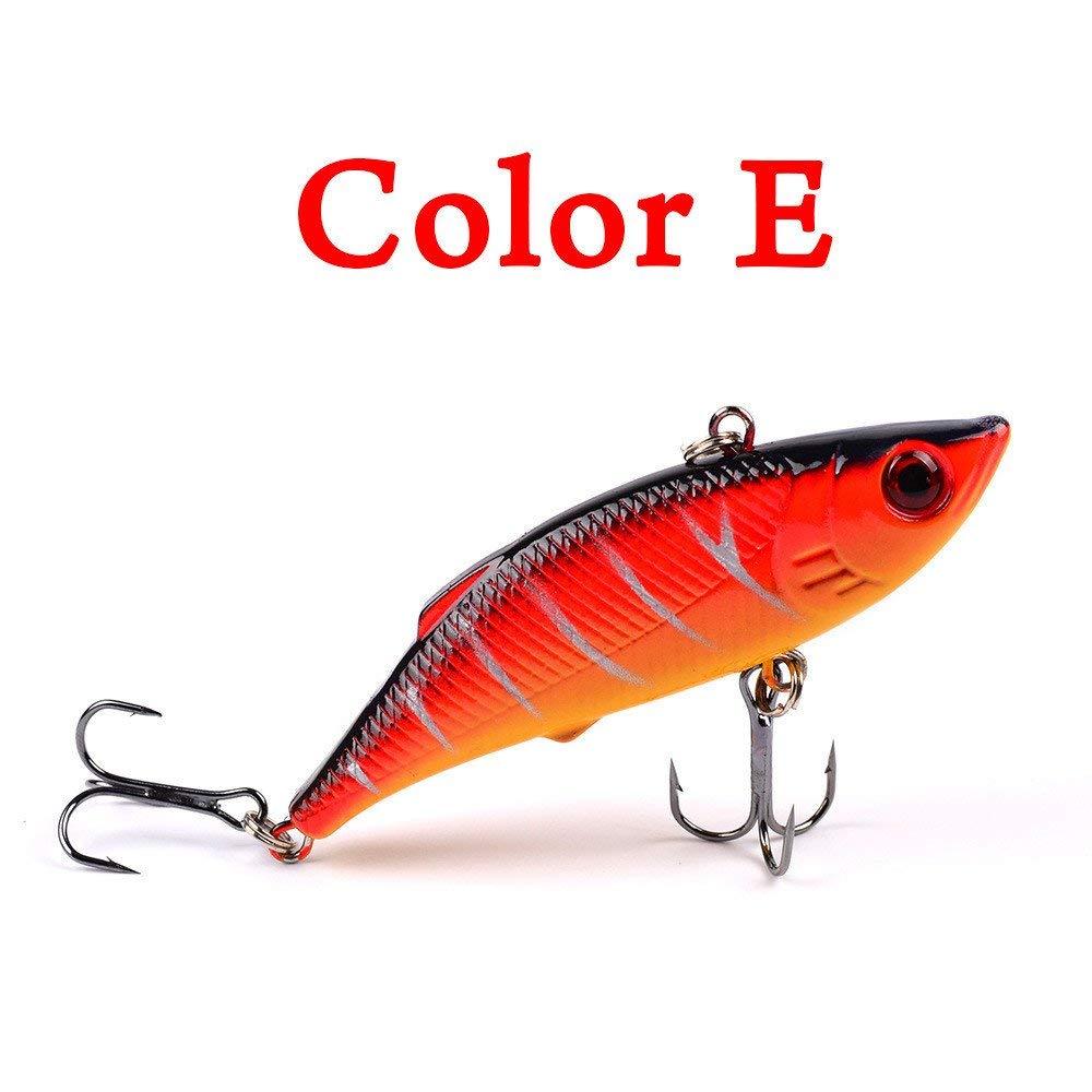 Rumas 1Pc 3D Eye Fishing Bait Tackle, Freshwater Saltwater Jerkbait Crankbait, Environmental Fishing Lure (E)