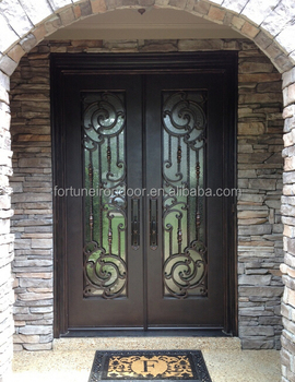 2016 American security door/casting iron gate/glass handmade door/double iron gate & 2016 American Security Door/casting Iron Gate/glass Handmade Door ...