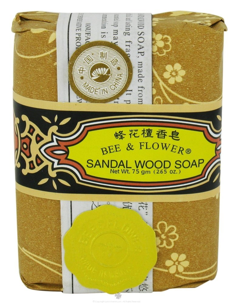 Bee and Flower Soap Bar Soap Sandal Wood - 2.65 Oz, Pack of 3