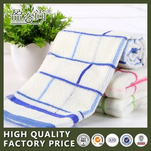 Hot Selling Face Towel Wholesale Variety Colors Checked 100% Cotton Terry Towel With Dobby Border