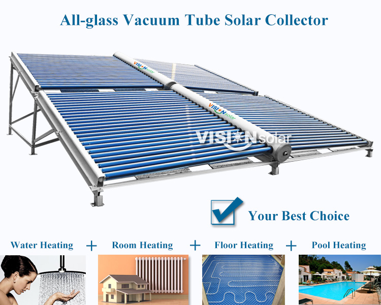 Good price manifold solar energy collector with vacuum tube
