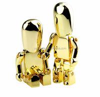 Shiny Robot USB Flash Drive, USB Memory Sticks Silver Gold Color key u disk
