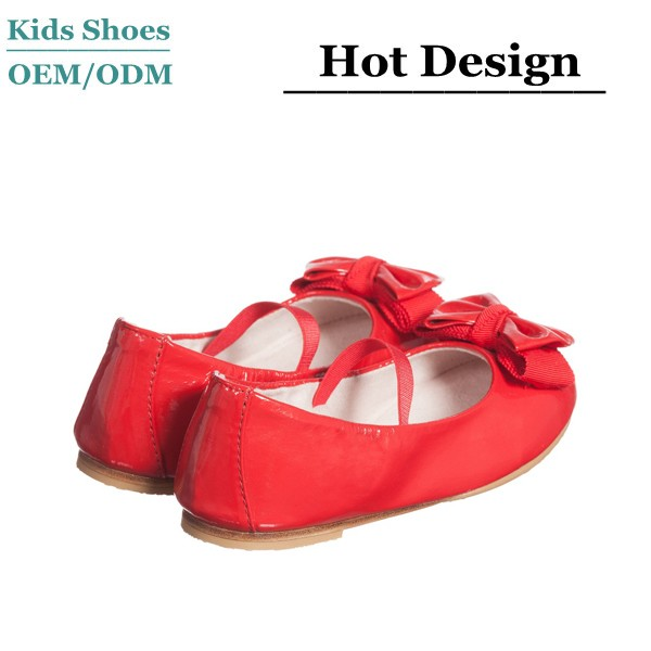 d0a3acf8aab46 J-D0287 Girls Red Patent Leather Bow Pumps 2016 New Classical Style Kids Red  Dance