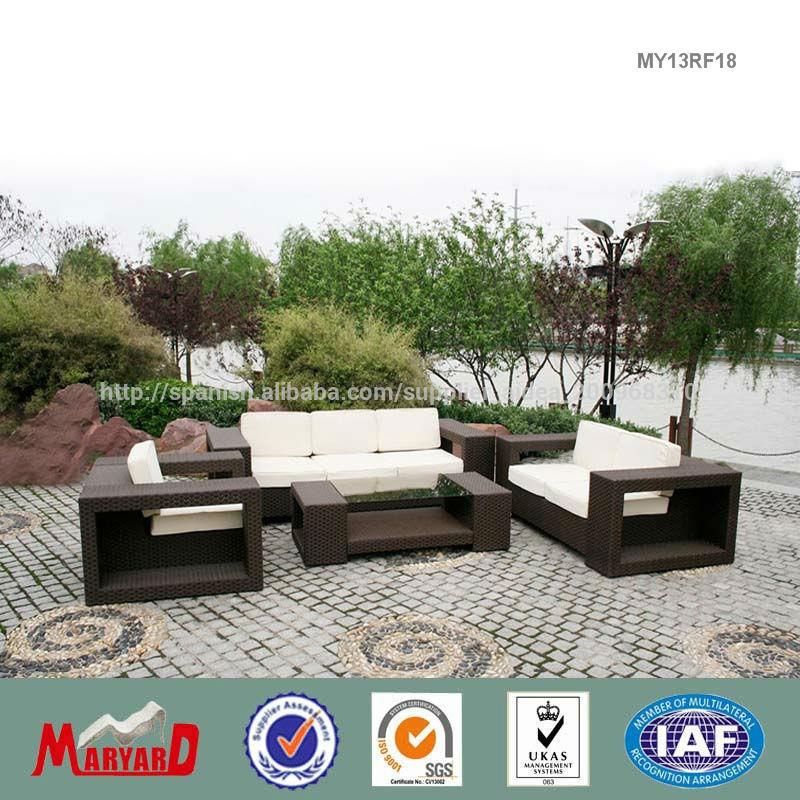 Ocio muebles de jardin mimbre ratán sofá cama-Sofás de jardín ...