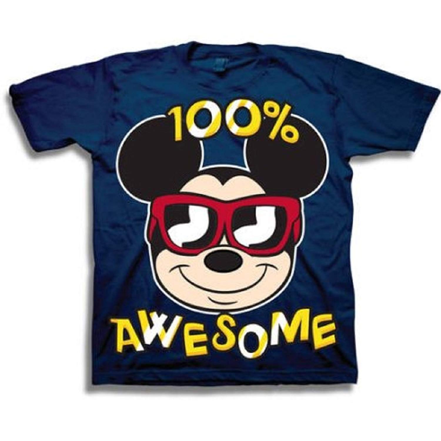 Mickey Mouse Toddler Little Boys 100% Awesome T-Shirt
