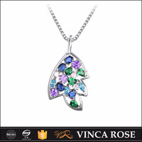 Vivid and various colors leaf shape quantum pendant price in india