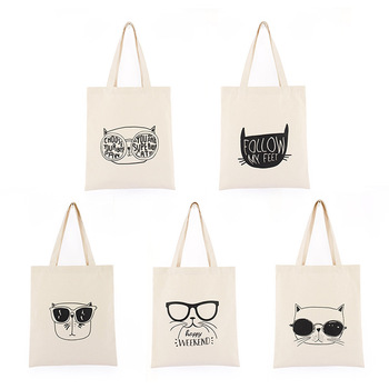 Wholesale Custom Logo Printed Folding Gift Shopping Cotton Canvas Tote Bag