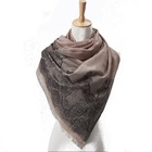Wholesale Women Light Weight Jacquard Shawl Pashmina Silk Scarves with Lace