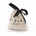 Wholesale custom logo mini drawstring natural cloth dried fruit walnut packing bag 100% organic cotton muslin jewelry pouch