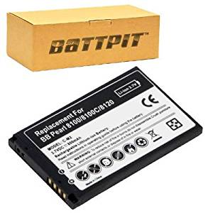 Battpit™ New Cell/Smart Phone Battery Replacement for BlackBerry Blackberry Pearl 8130 (800 mAh)