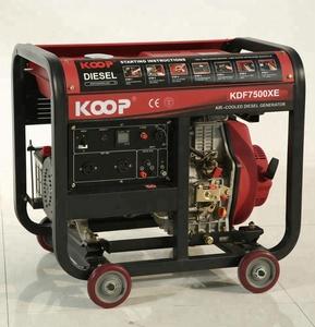 5 5kVA Portable Diesel Generator Changzhou KOOP KDF7500XE(1-phase)