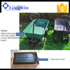 Farming utility plastic material tipping poly garden dump cart