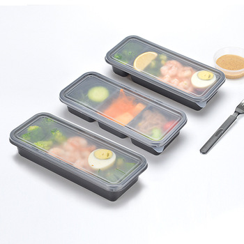 Biodegradable PLA Plastic Food Containers Disposable Takeaway Lunch Box