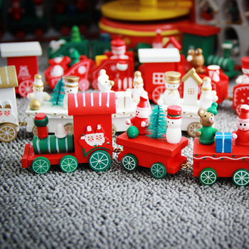 dropshipping christmas decoration for home little train popular wooden train decor christmas ornaments new year supplies