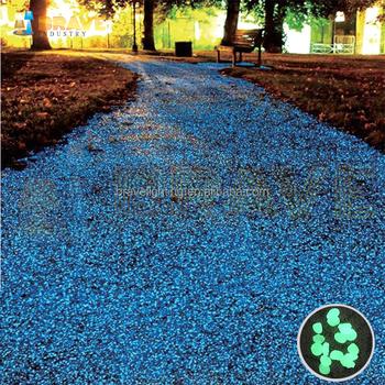 Glow In The Dark Pebble Stone 100pcs Blue River