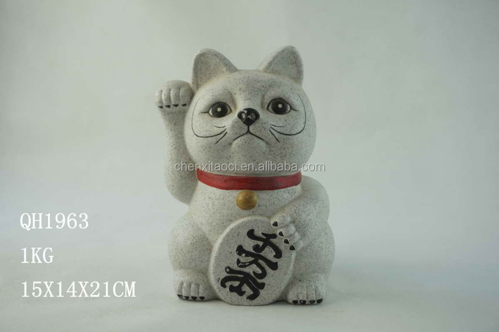 Big Cat Statue Made of Sand and Soil, Garden Cat Statue with Different Design