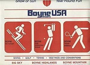 Boyne USA Resorts Placemat Big Sky Montana Boyne Highlands & Mountain Michigan