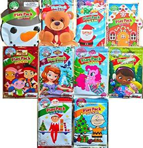 Christmas Rare Deluxe Play Packs Gift Set Featuring Christmas Classics, Jake Neverland Pirates, Sofia The First ,My Little Pony, Peanuts