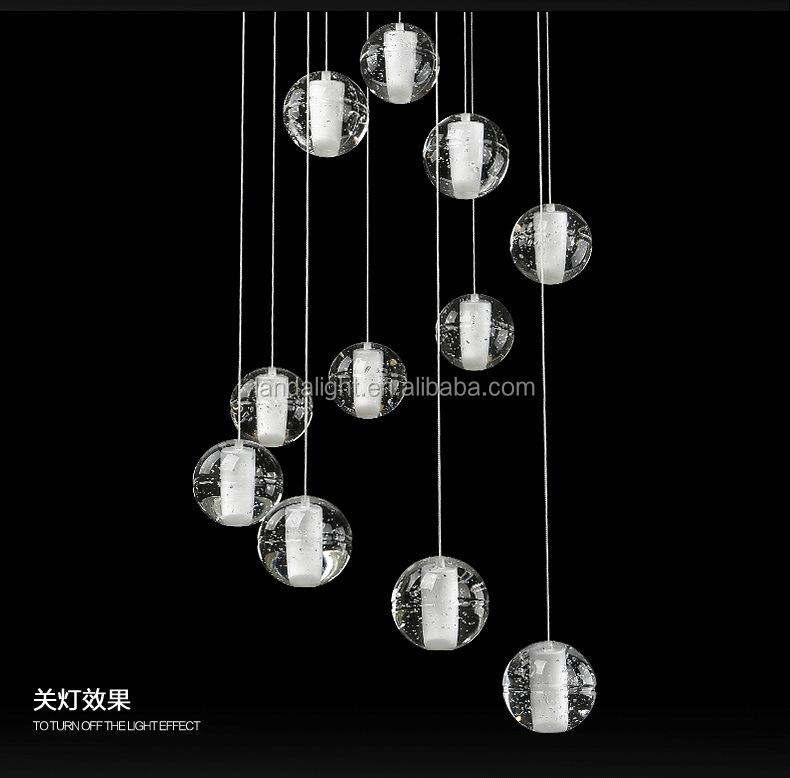 Boccidesgin Crystal Glass Ball Pendant Lighting