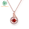 Wholesale Natural Ruby Pendant Christmas Gift For Girls Dancing Charm Pendant