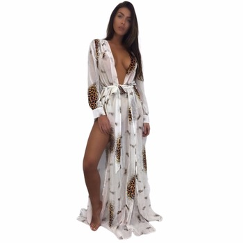 10eb514973 Women Summer embroidered Casual Boho Long Maxi Swim Beach Wear Bikini Cover  Up Dress