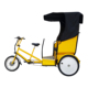 48v 500watt Electric Pedal Assist 3 Wheel Pedicab Rickshaw Passenger Tricycle For Sale