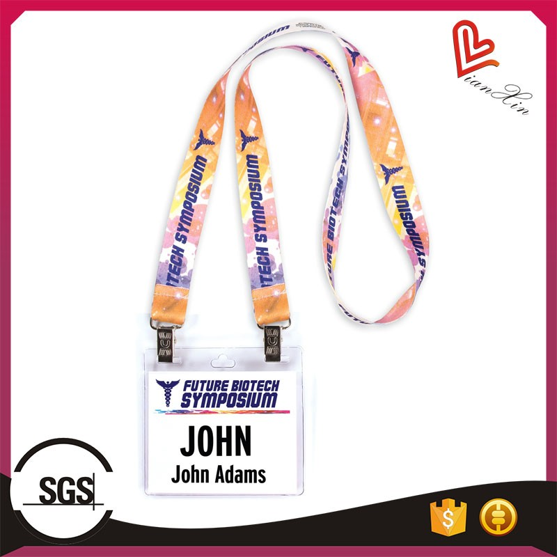 PVC Soft Students/Worker ID Card Holder with Lanyard/Cheap Lanyard with PVC Card Holder