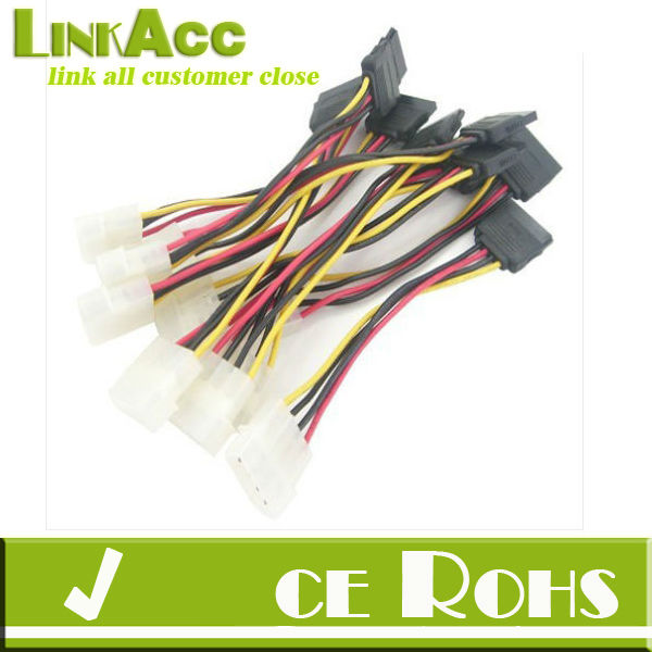 Linkacc1-th127 LOT10/10PCS NEW IDE to Serial ATA SATA HDD Power Adapter Cable PC fast Shipping