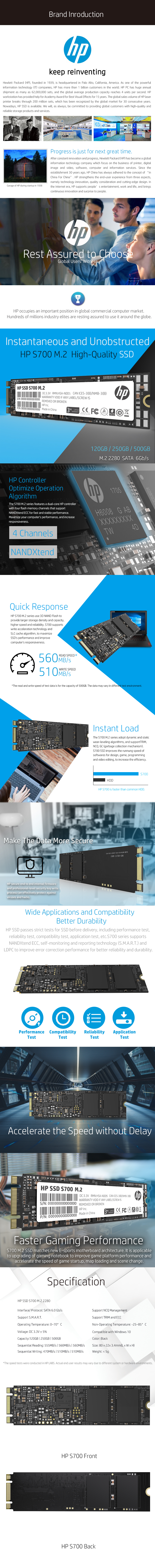 HP SSD S700 M.2 250gb solid state drive, View HP SSD, HP Product ...