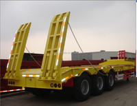 2016 Best selling 3 axles Lowbed Semi-trailer/truck trailer/remorque for sale