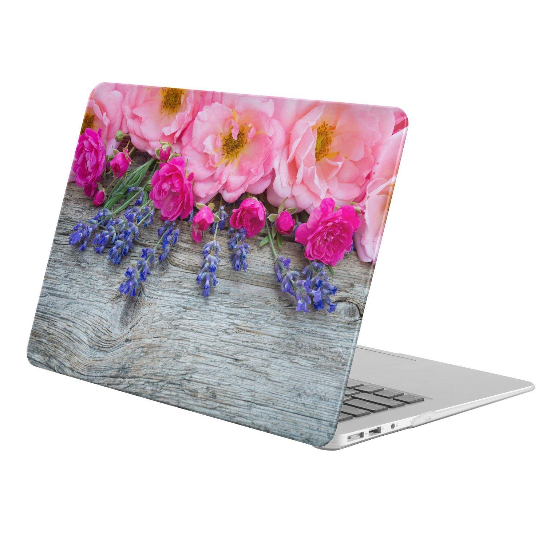 "KINGCASE - Macbook Pro 13-inch 13"" (Model: A1278 ONLY!!!) - full body hard case - Earth Flower Flowers Blue Flower Pink Flower Rose"